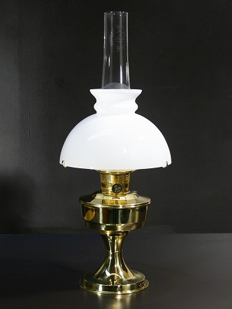 Aladdin Table Lamp, Messing mit weißem Rochesterschirm (9.5
