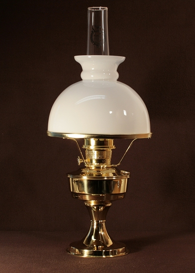 Aladdin Table Lamp, Messing mit weißem Rochesterschirm (10