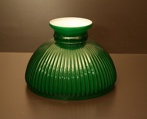 Aladdin Green Ribbed Shade