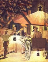 Kutsche mit Lampe